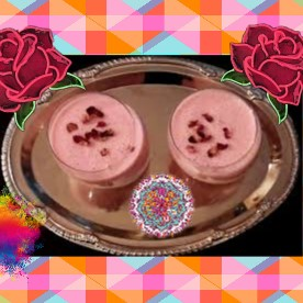 Rose/Gulab lassi