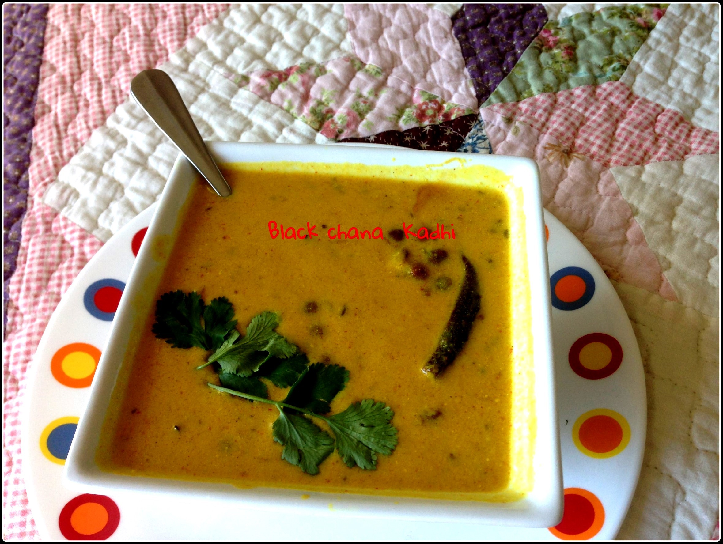 Black chana /black chickpeas Kadhi