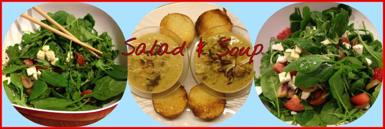 salad and soup
